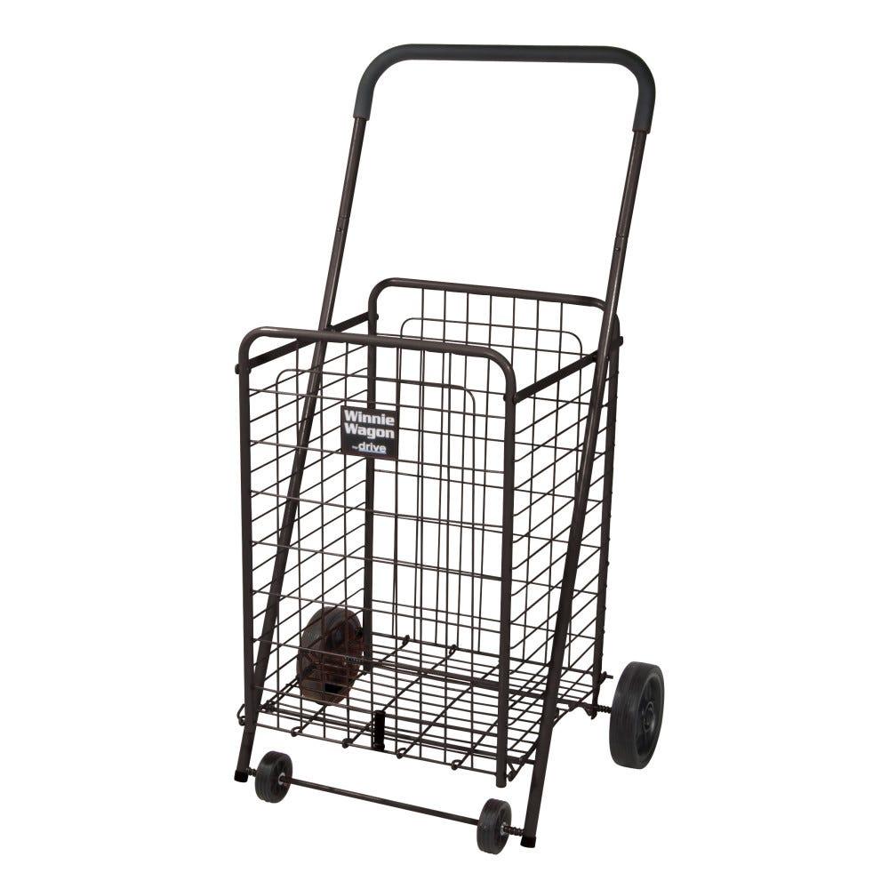 Image of Drive Medical Winnie Wagon All Purpose Shopping Utility Cart, Black