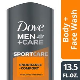 Dove Men Care Sportcare Endurance Comfort Body Face Wash 13 5 Oz Rite Aid