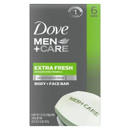 Dove Men Care Extra Fresh Body Face Bar Soap 24oz Pack Of 6 Rite Aid