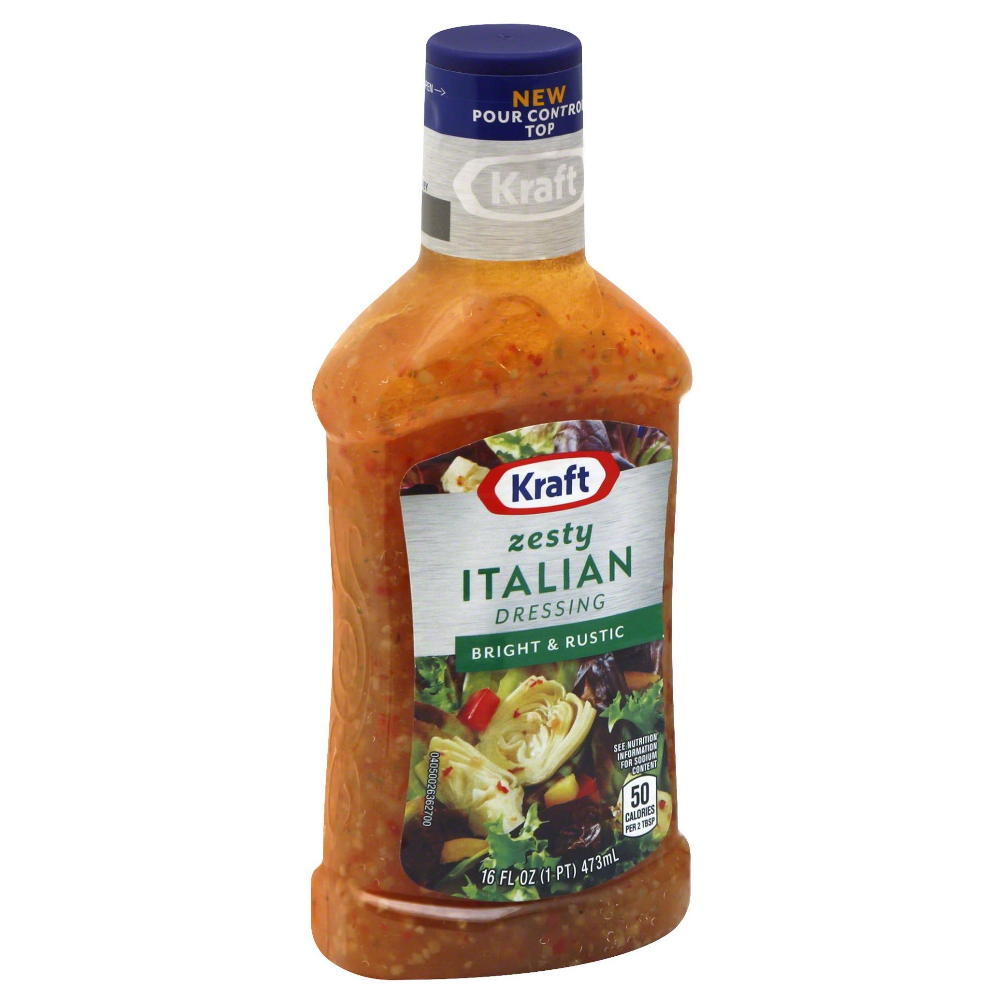 Kraft Dressing, Zesty Italian 16 fl oz
