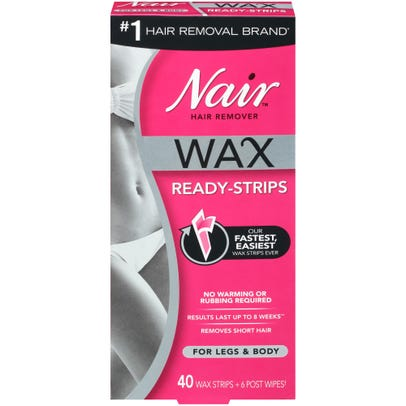 Nair Hair Remover Wax Ready Strips For Legs Body 40 Ct Rite Aid