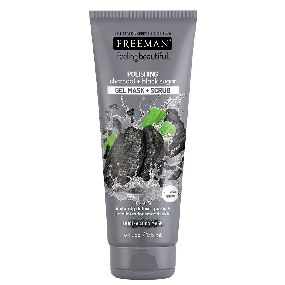Charcoal + Black Sugar Polishing Gel Mask & Scrub by Freeman