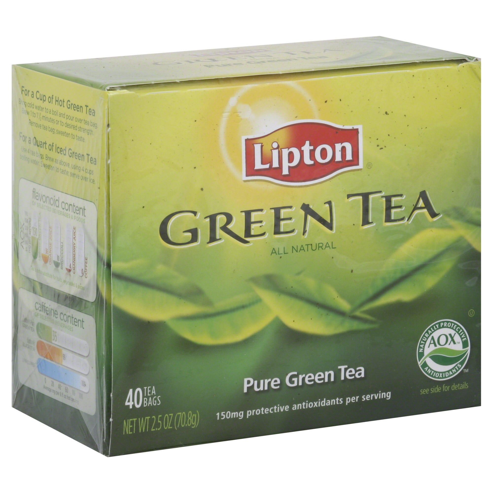 Lipton Green Tea, Pure 40 bags 2.5 oz