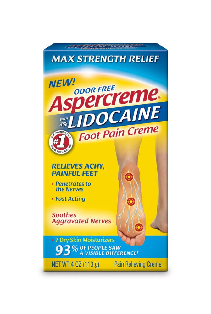Image of Aspercreme with Lidocaine Foot Pain Creme - 4 oz
