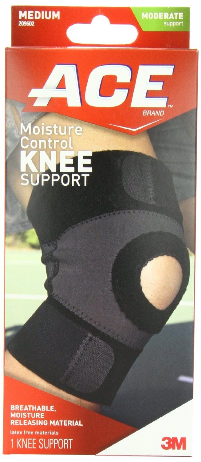Image of ACE Knee Support, Moisture Control, Moderate Support, Medium
