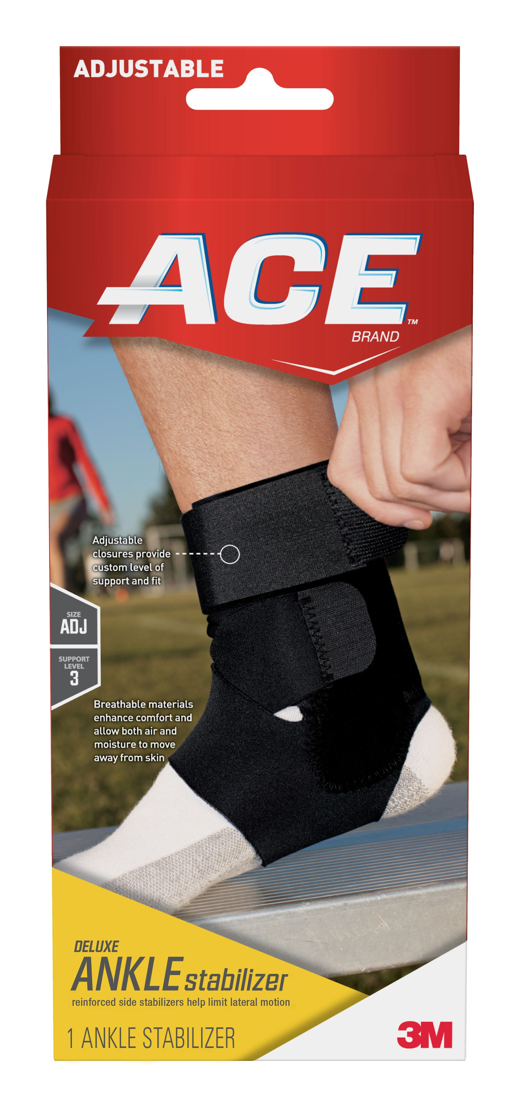Image of ACE Ankle Deluxe Stabilizer, Moderate Support, One Size Adjustable