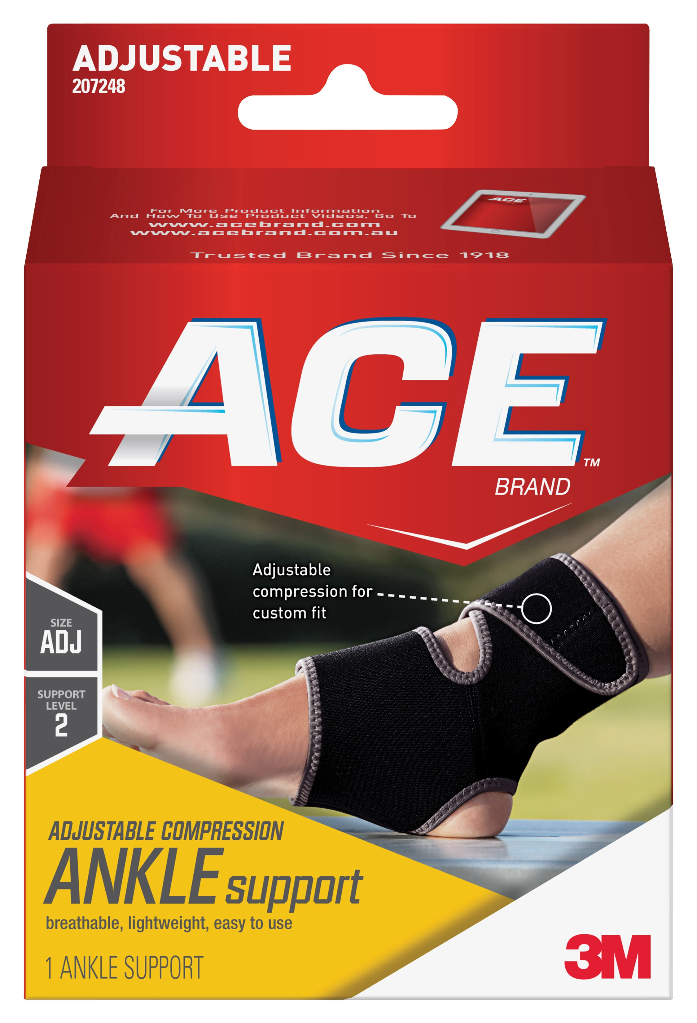 Image of ACE Adustable Neoprene Ankle Support, Mild Support