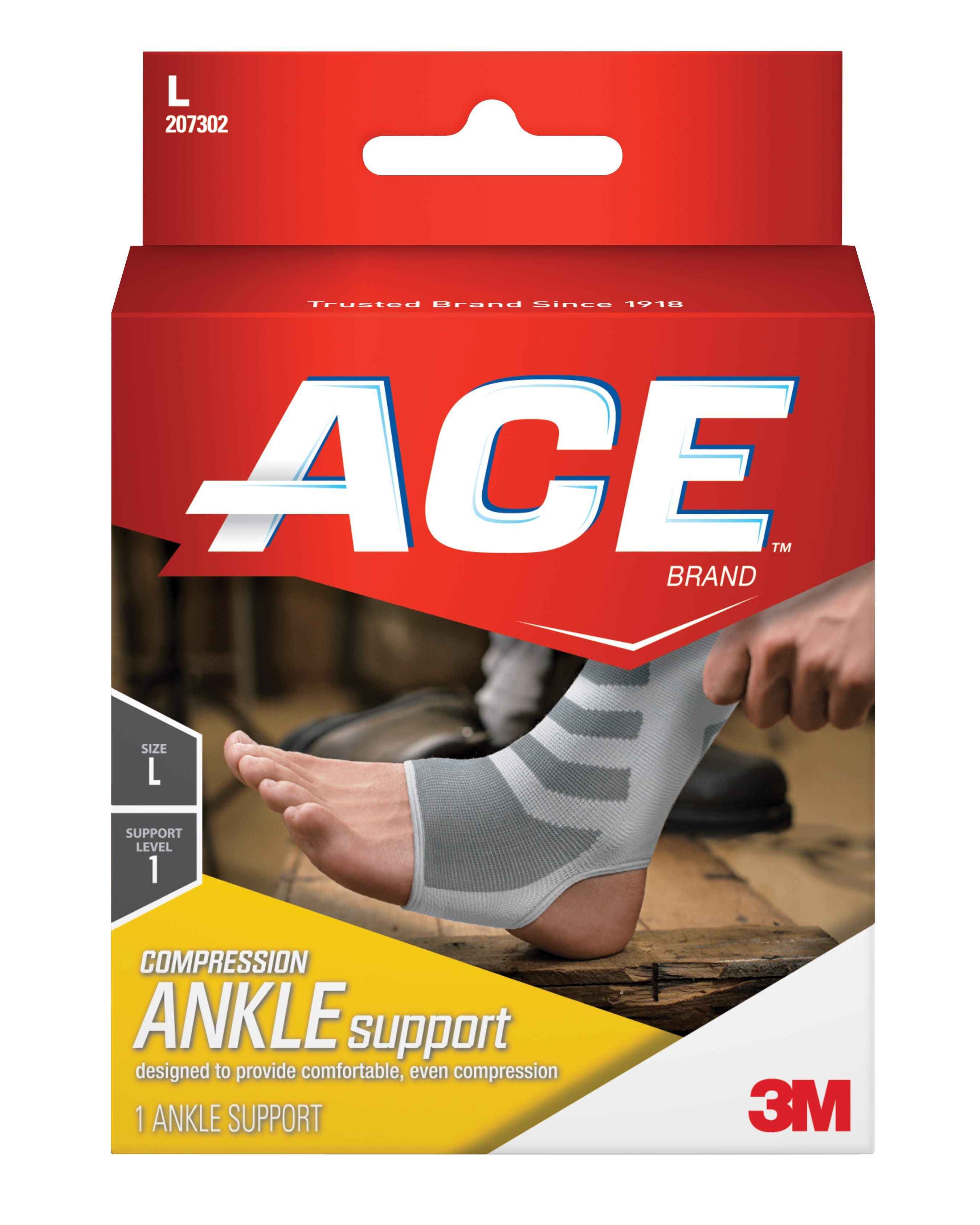 Image of ACE Knitted Ankle Support, Large, Mild Support