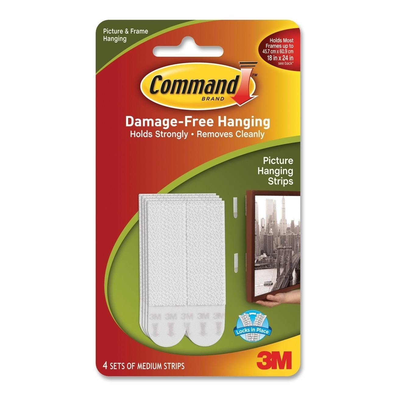 4 x 3M COMMAND DAMAGE-FREE HANGING STRIPS