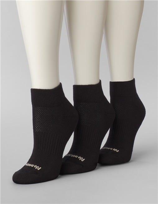 No Nonsense Women's Socks Soft /& Breathable Quarter Top Cushioned 3 Pair 4-10
