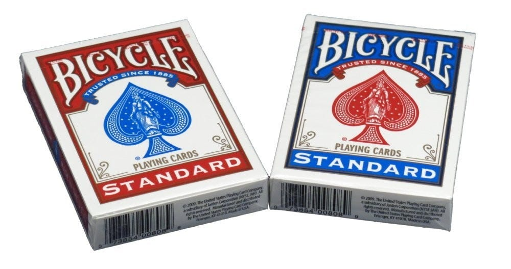 Bicycle Standard Face Playing Cards 2 Piece by Bicycle