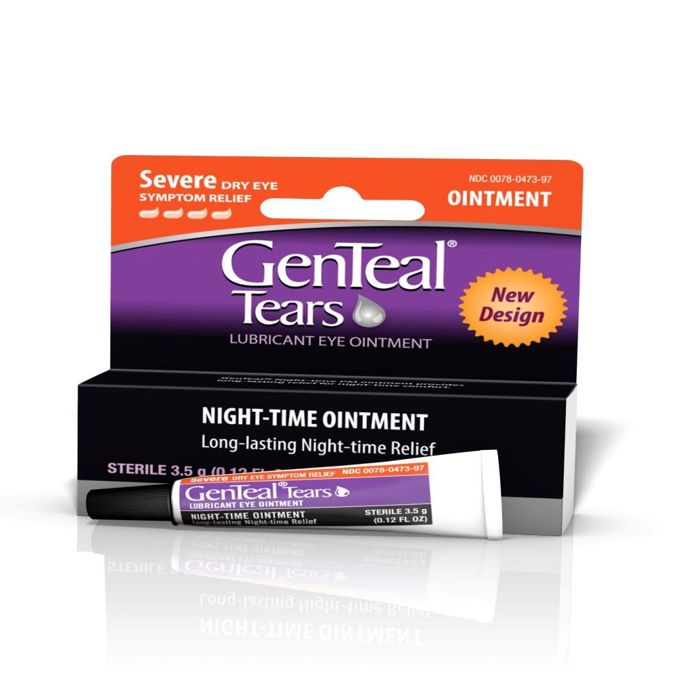 Image of GenTeal PM Lubricant Eye Ointment, Severe Dry Eye Relief - 0.125 oz