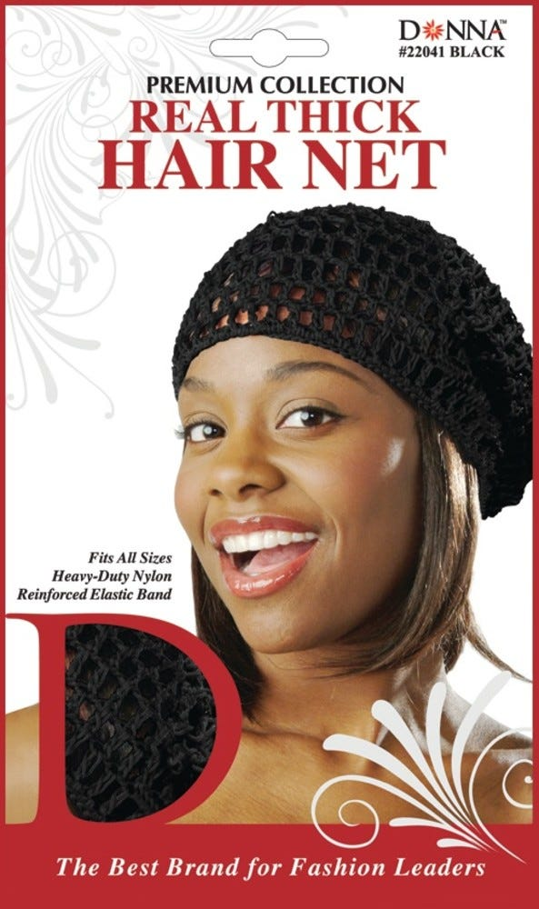 Image of Donna Real Think Hair Net, Black - 1 ct
