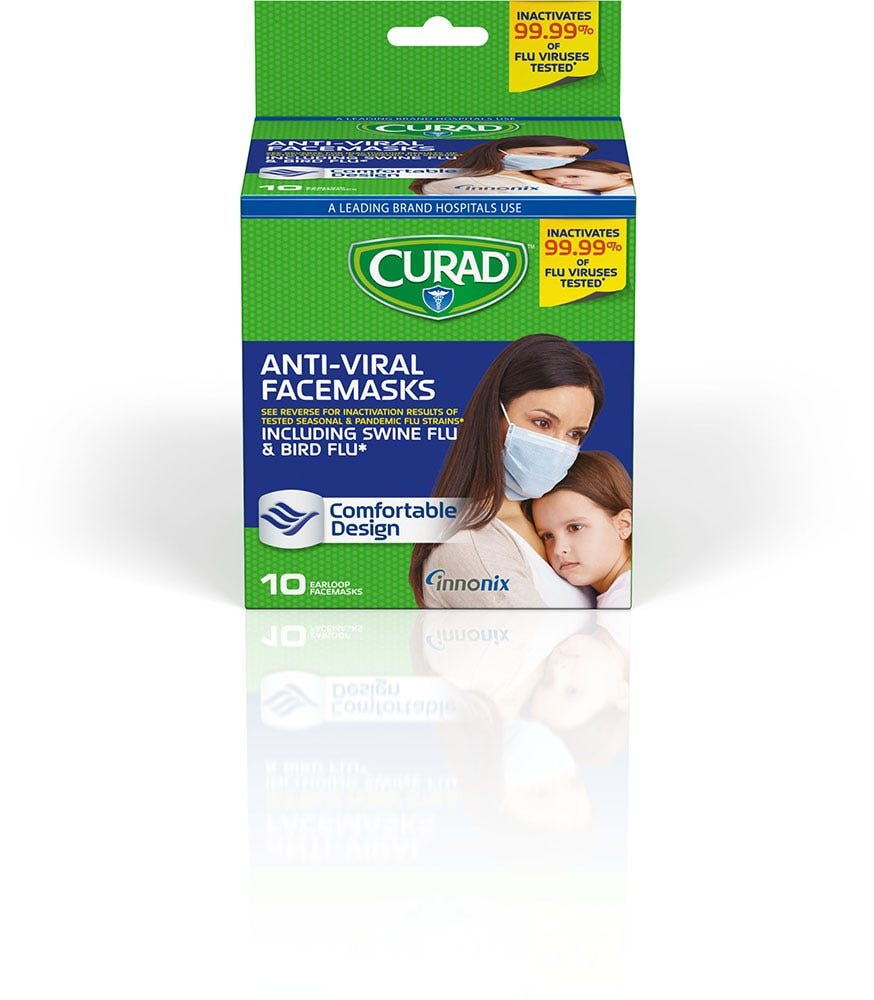 Image of Curad Biomask Face Mask, 10 ct.