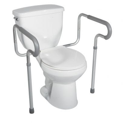 Drive Medical Toilet Safety Frame With Padded Armrests White