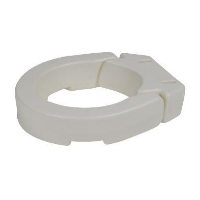 Drive Medical Hinged Toilet Seat Riser Standard Seat White