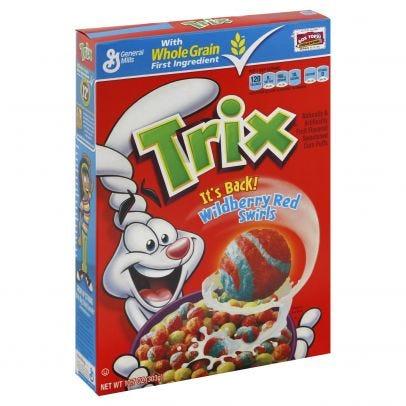 Trix Cereal, Wildberry Red Swirls 10.7