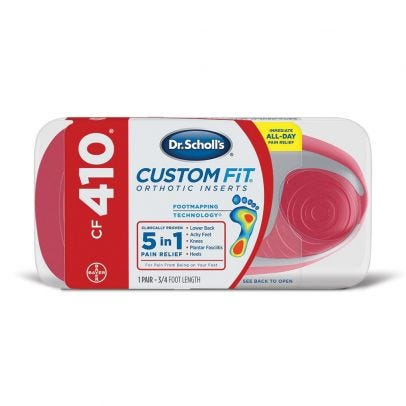 Dr. Scholl's Custom Fit Orthotic Insoles CF410 - 1 Pair on dr scholl's massager with heat, dr scholl's feet, dr scholl's massaging machine percushion,