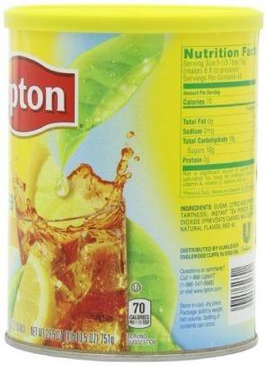 Lipton Iced Tea Mix, Natural Lemon