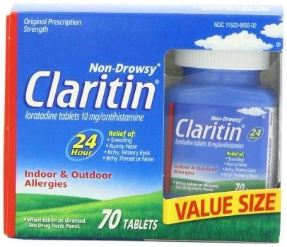 Claritin 24 Hr Non Drowsy Allergy Relief Tablets Prescription Strength 10mg 70 Ct