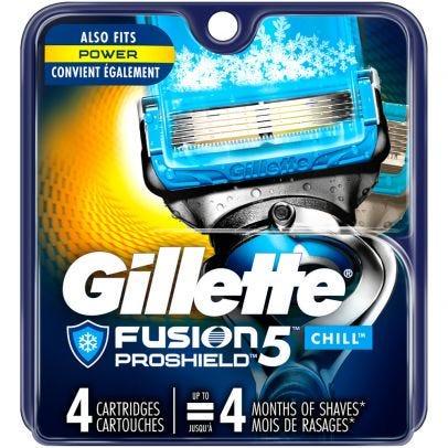 Gillette Fusion5 Proshield Chill Men S Razor Refills 4 Ct