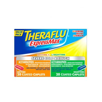 Theraflu Expressmax Severe Cold Cough Combo Daytime Nighttime 40 Ct