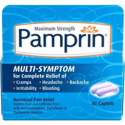 Photo of Pamprin Menstrual Pain Relief Multi-Symptom Caplets, Maximum Strenght - 40ct