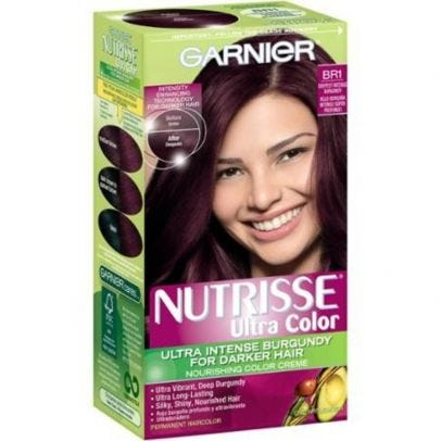 Garnier Nutrisse Ultra Color Nourishing Hair Color Creme, BR1 Deepest  Intense Burgundy