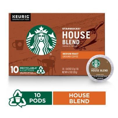 Starbucks K-Cups, House Blend - 10 ct