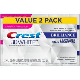 Crest 3d White Luxe Lustrous Shine Brilliant Mint Flavor Whitening