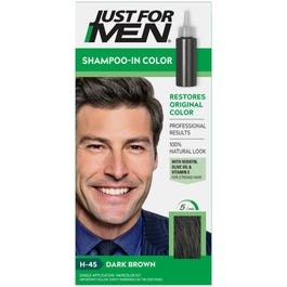 Just For Men Shampoo-In Haircolor, Dark Brown H-45