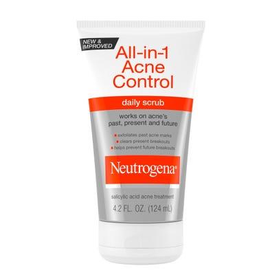 Neutrogena Daily Scrub All In 1 Acne Control 4 2 Fl Oz 125 Ml