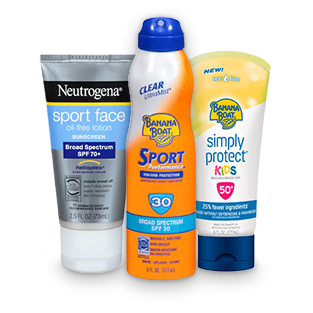 neutrogena banana boat sunscreen